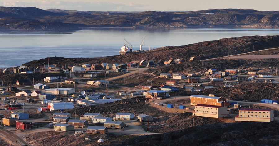 A view of Cape Dorset, Nunavut--one of 25 photographs by local community members that will be on display as part of the Arctic Adaptations exhibition in Venice.  Claude Constantineau