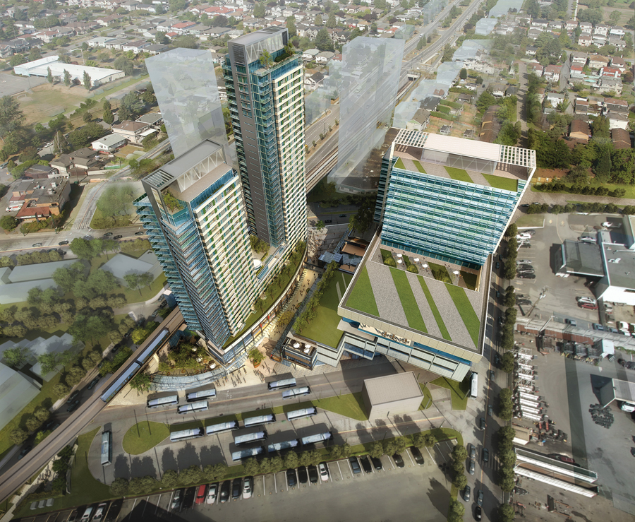 Scheduled for completion in 2015, Marine Gateway is the first large-scale mixed-use development at a new transit node in south Vancouver. Perkins+Will