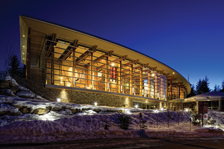 The Squamish Lil'Wat Cultural Centre was completed by Waugh Busby Architects in 2006. Michael Bednar