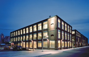 The University of Waterloo School of Architecture occupies the former Riverside Silk Mills in Cambridge - the conversion was completed by LGA Architectural Partners in 2004.