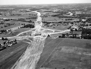 Modernization took hold of the region in a dramatic manner when Highway 401 was constructed, as seen in this view from 1960.