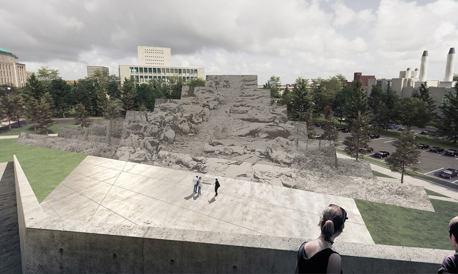 A rendering of the proposed Memorial to the Victims of Communism, planned for a prime site down the street from Parliament Hill in Ottawa.