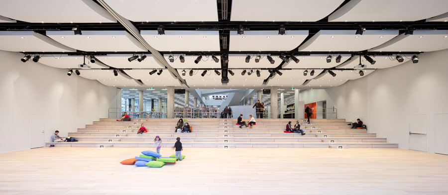 A view of the multi-functional performance space.