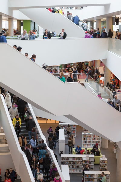 More than 10,000 people visited the library on opening day last December.