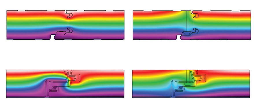An SR&ED tax credit partially funded an experiment conducted by Coolearth Architecture to improve the accuracy of energy models in their design process. Using THERM software, the firm modelled the flow of heat at the joints of two different insulated metal panel products to predict the effect of thermal bridging.