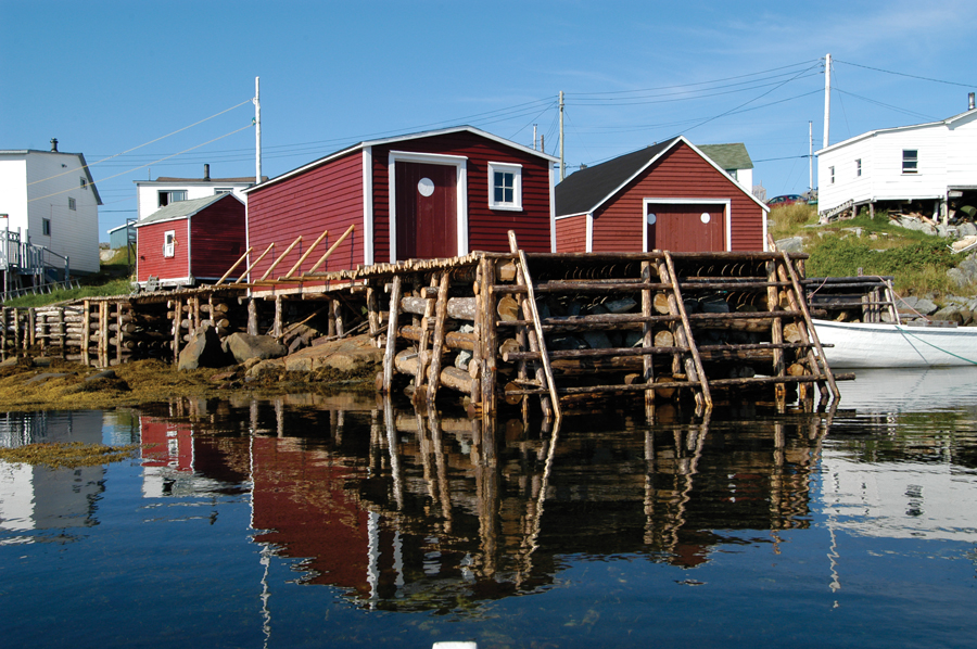 Robert Mellin documented the traditional buildings of Tilting, a Newfoundland outport. Photo by Robert Mellin