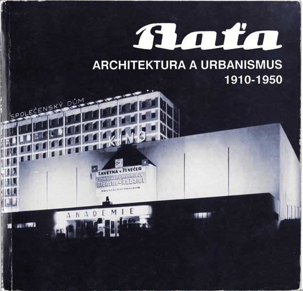 A cover from a Czech publication on Bata's avant-garde architecture worldwide.