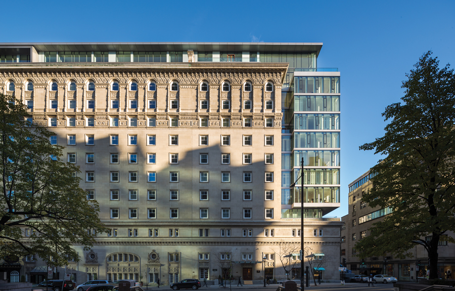 The firm's work on Montreal's Ritz-Carlton included transforming a section of the building into luxury condos. Photo by Stéphane Groleau