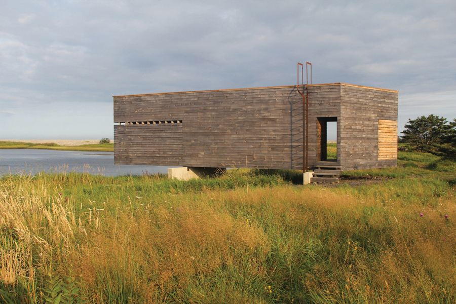 A boathouse built during Ghost 10 in 2008 includes a roof deck with panoramic views. Photo by Brian MacKay-Lyons