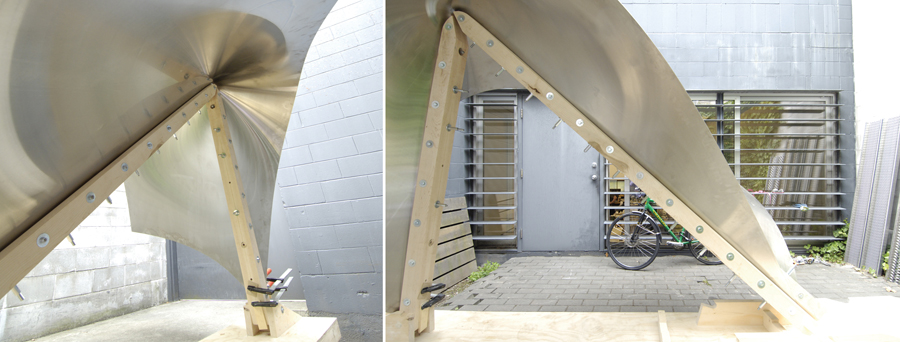Sample output from the bending process. Photo by Patkau Architects
