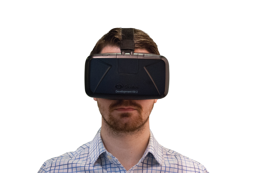 A view of Oculus Rift virtual reality goggles. Photo courtesy DIALOG