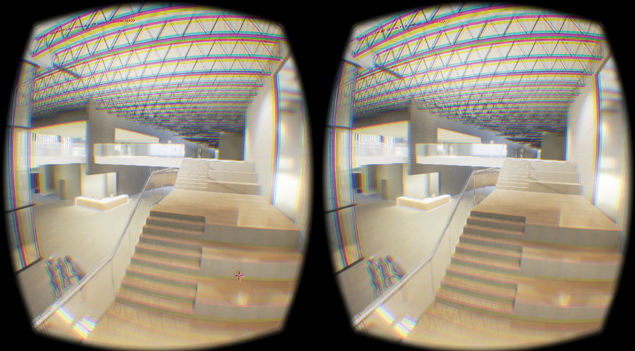 The 3D view seen through Oculus Rift goggles. Photo courtesy DIALOG