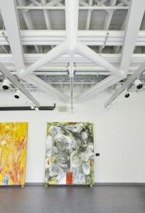 2 Brock U. Diamond-shaped trusses in painting studio
