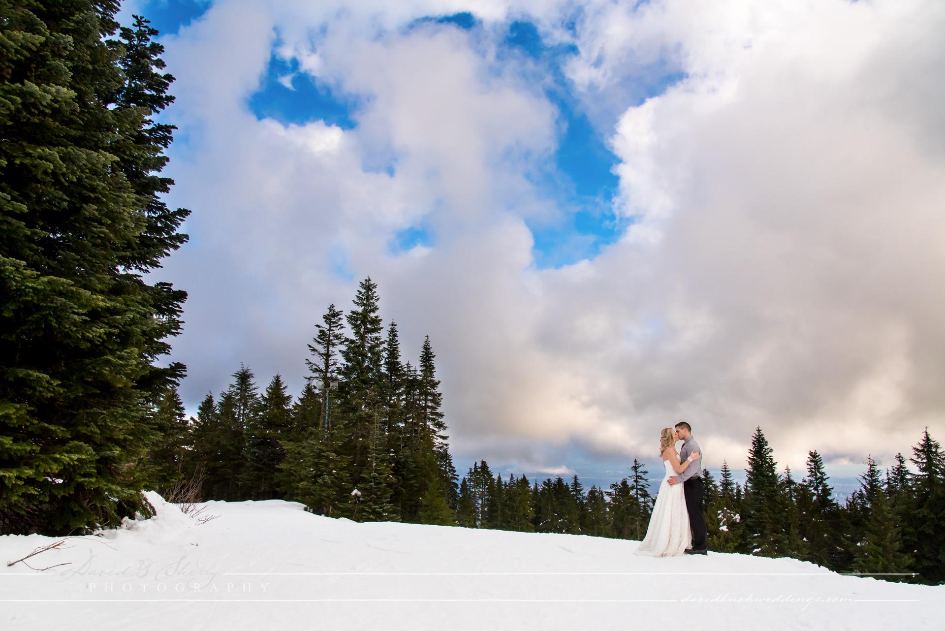 Unique Winter Engagement Photos Grouse Mountain Winter...