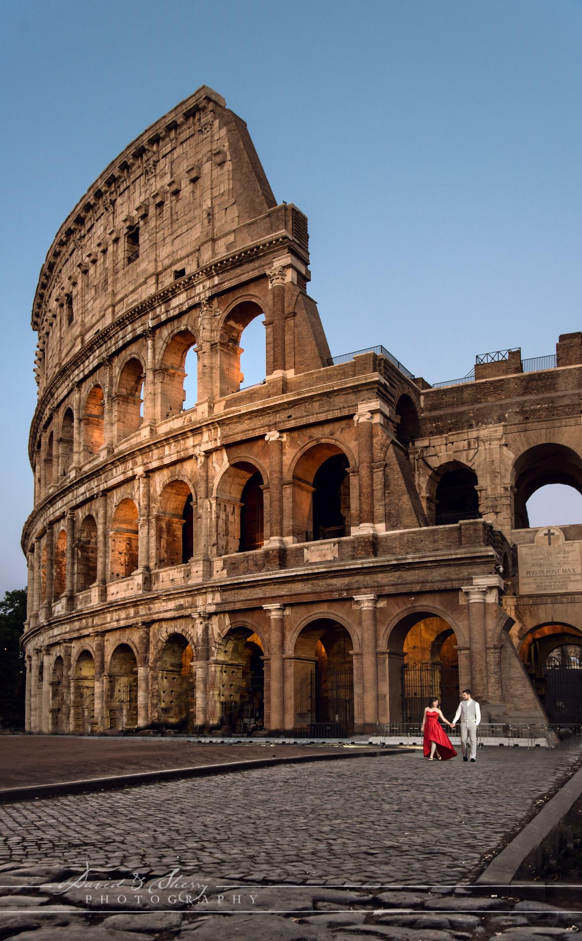 Destination Wedding Photos Rome Italy Colosseum