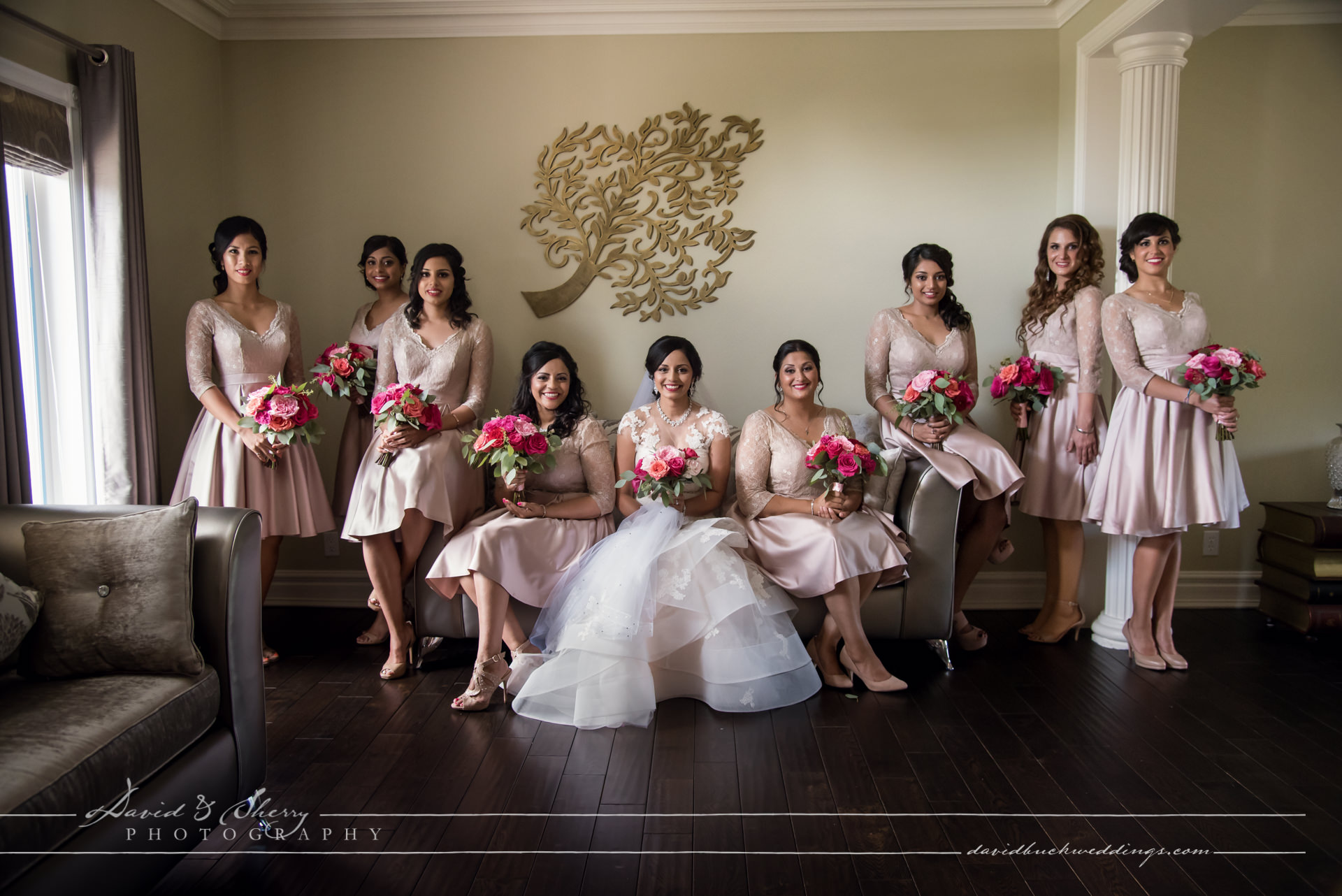 Bridal party group photos girls