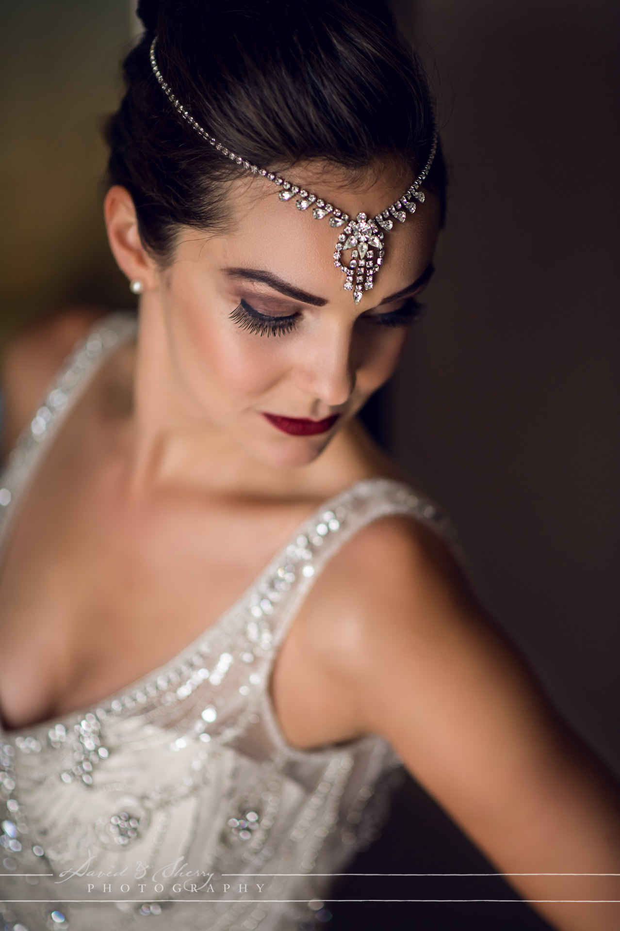 Glamourous Art Deco Bride Portrait
