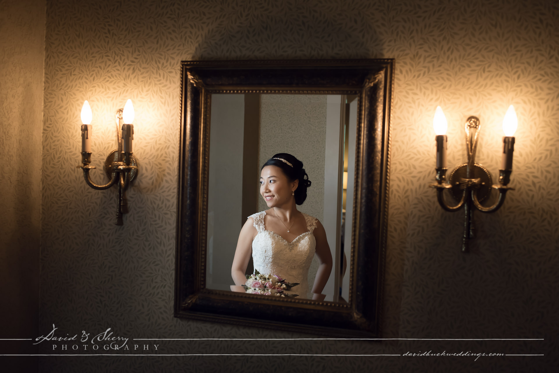 Wedding Portrait at the Old Mill