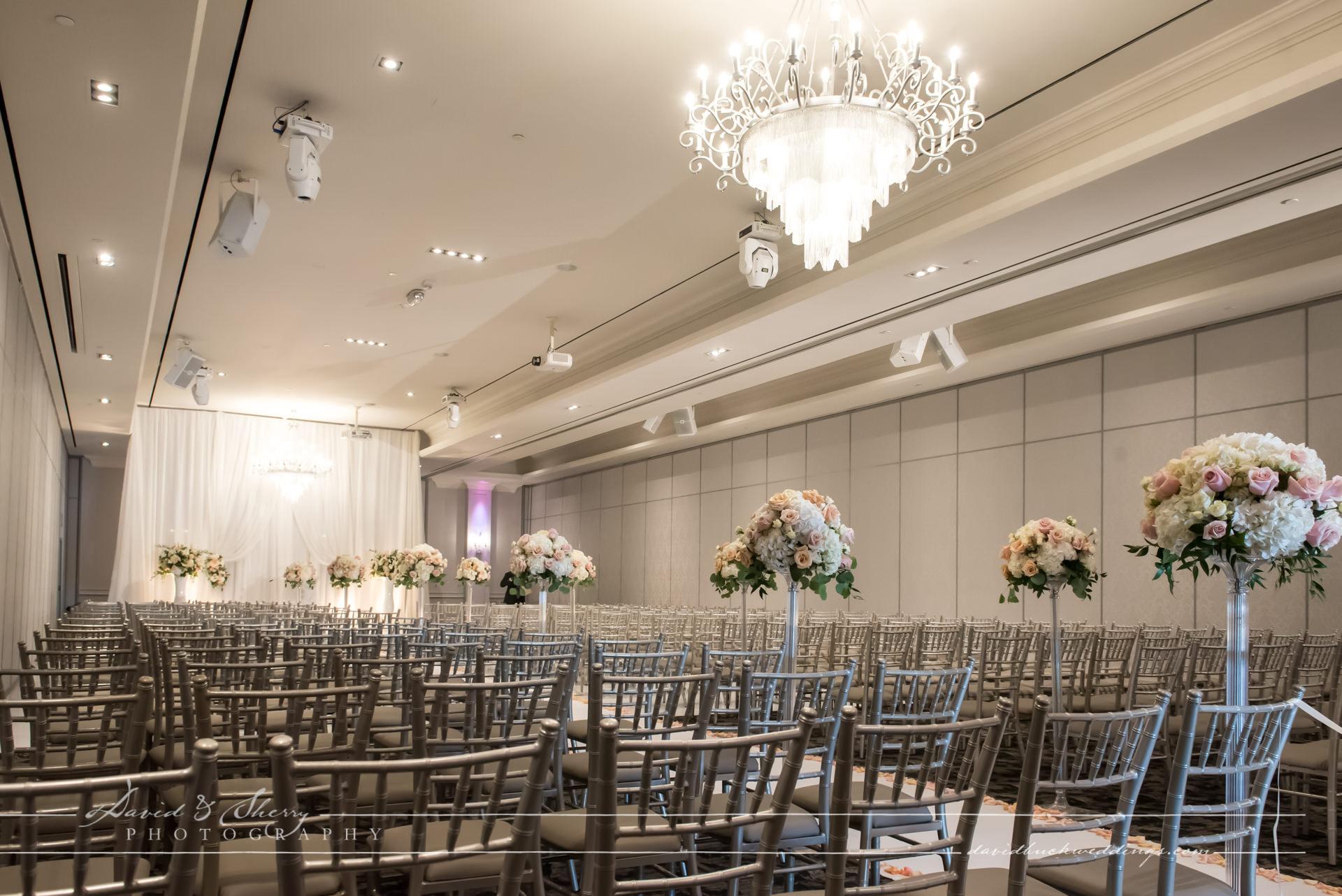 Wedding Ceremony setup at Parkview Manor in Toronto