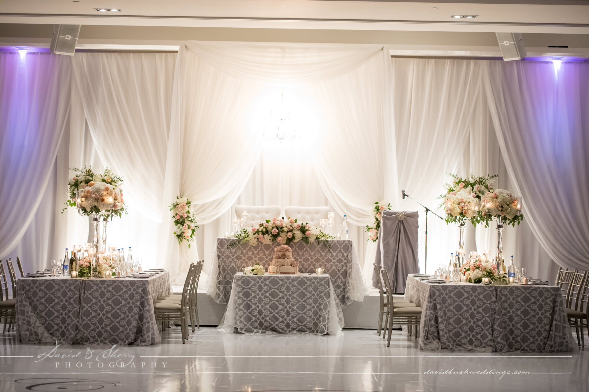 Parkview Manor head table set up