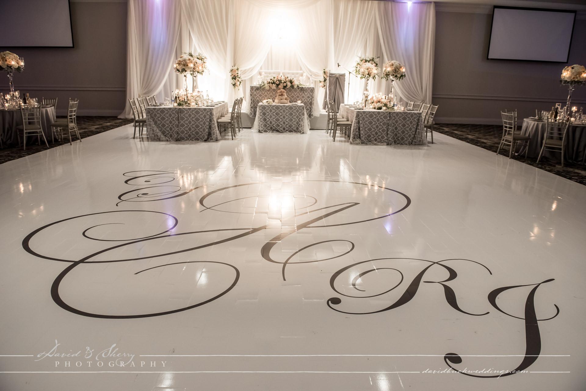 Parkview Manor custom dance floor covering