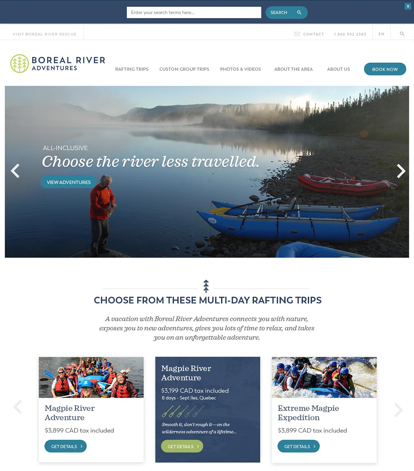 Boreal Adventures Website