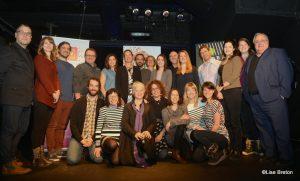 Artistes, partenaires et équipe de RIDEAU 2017 @Lise Breton