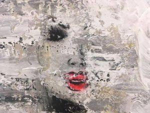 DUMONT - Ombre et l'Intensité, techniques mixtes sur toile, 14 x 18 pouces