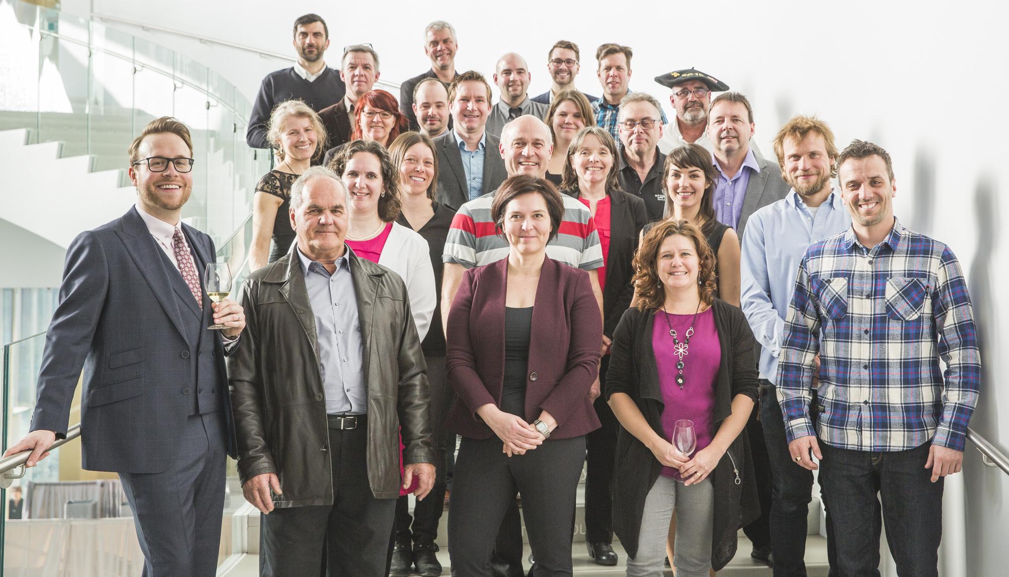 Vincent Lafortune et les producteurs de la 7e édition de Québec Exquis !
