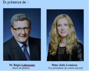 Régis Labeaume et Julie Lemieux