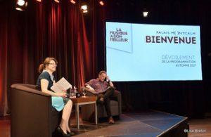 Isabelle Guilbeault animatrice de la programmation et Dominique Soutif coordonnateur Photo @Lise Breton