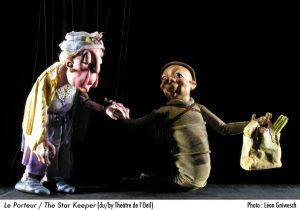 Le Porteur  (Théâtre de l'œil) 5 à 10 ans / photo : Léon Gniwesch