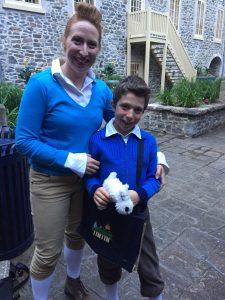 Les gagnants: Mme Christine Bricault et son fils Henri