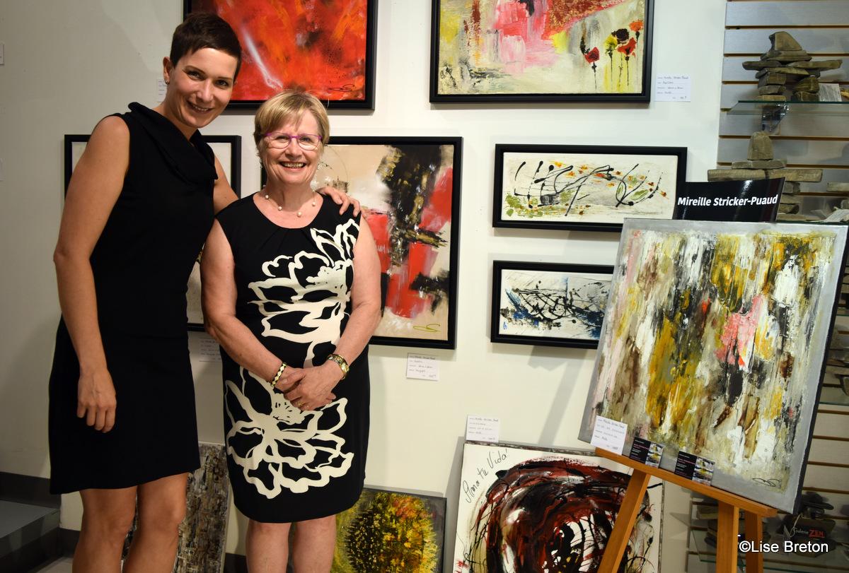 Esther Garneau proprietaire de la Galerie Zen e t Mireille Stricker Puaud Photo @Lise Breton