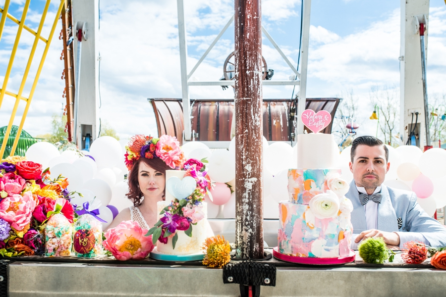 colourful wedding