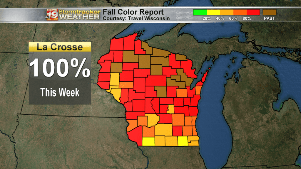 Weather Outlook: Fall colors include red, orange, yellow…. and white