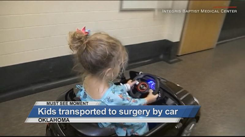 MUST SEE: Kids transported to surgery by car