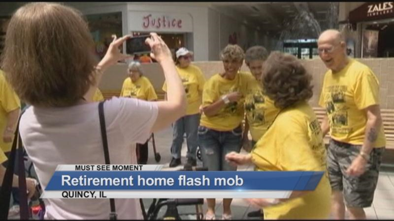MUST SEE: A retirement home flash mob
