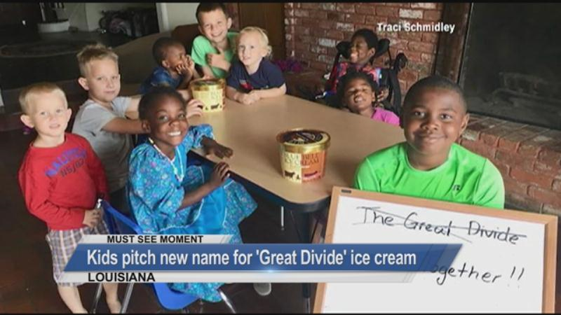 MUST SEE: Kids pitch a new name for an ice cream flavor