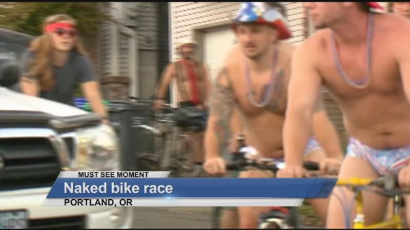 MUST SEE: Naked bike race
