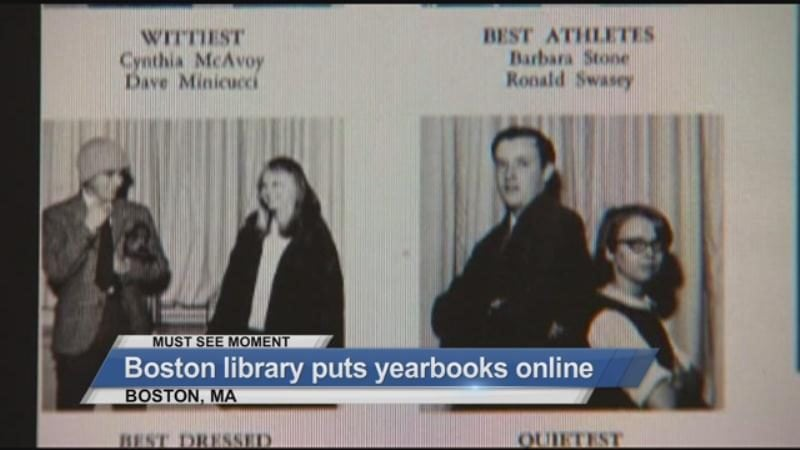 MUST SEE: Boston library puts yearbooks online