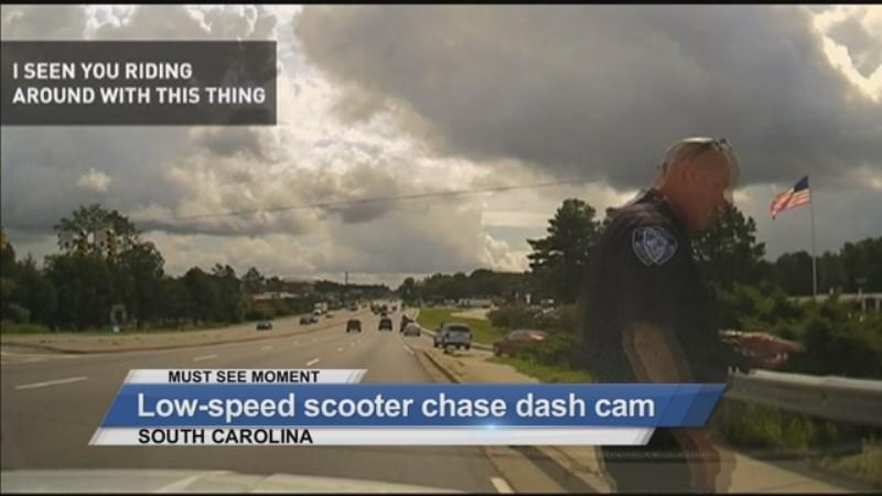 MUST SEE: Low- speed scooter chase dash cam