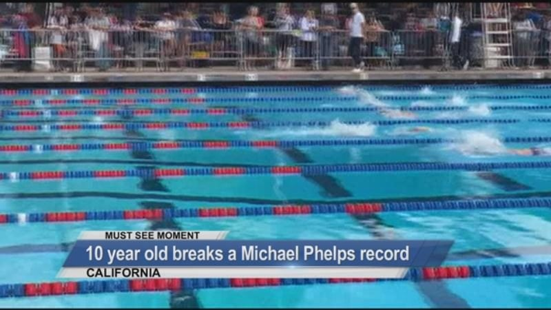 MUST SEE: 10 year old breaks a Michael Phelps record