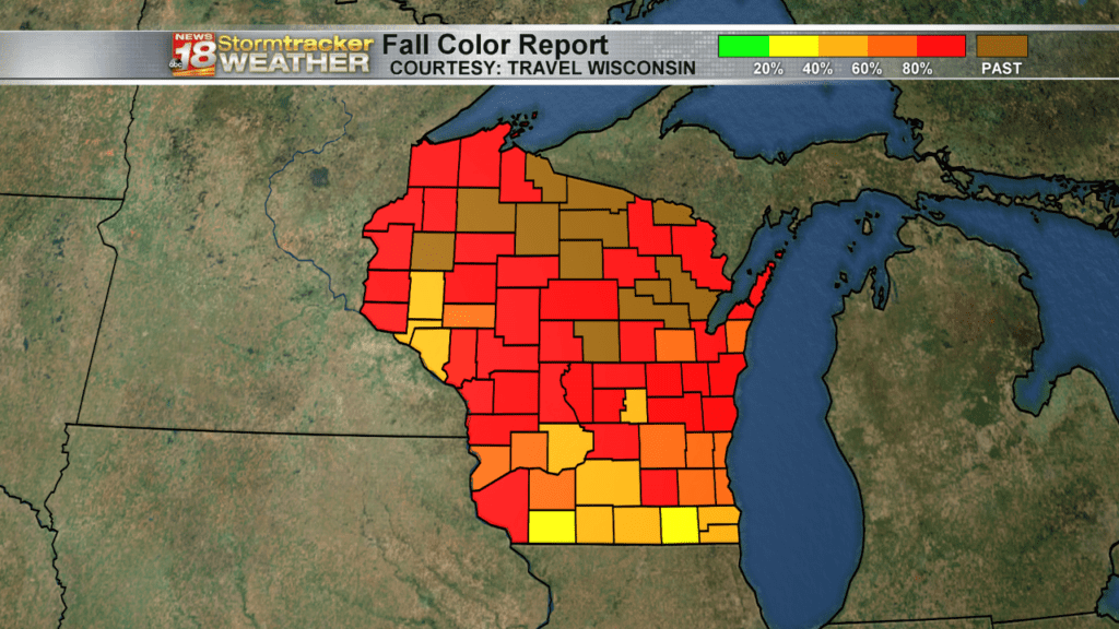 Weather Outlook: Fall colors include red, orange, yellow….. and white