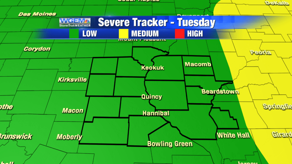 Severe Storms A Threat Later Tuesday