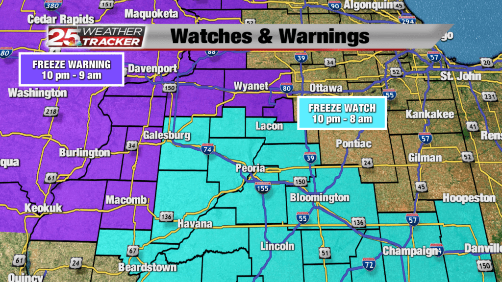 Freeze Watch Tonight