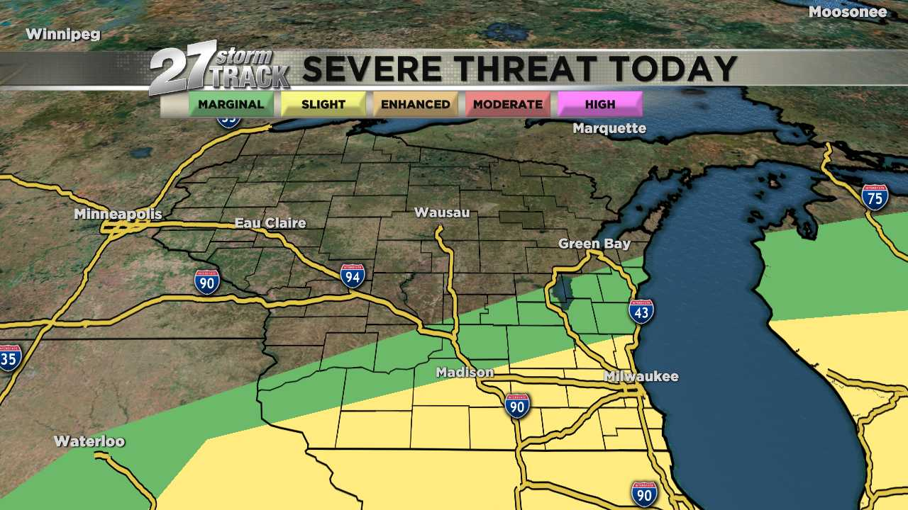 Strong storms possible this afternoon & evening