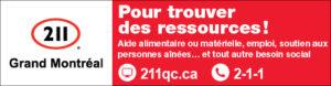 affiche d'informations pour le 211