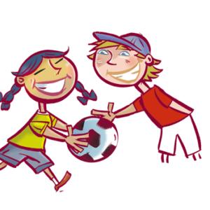 enfants qui joue au soccer