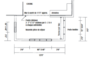 dessin du rez-de-chaussée